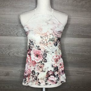 Floral Knit top by Rue21 Pink Cream size Small